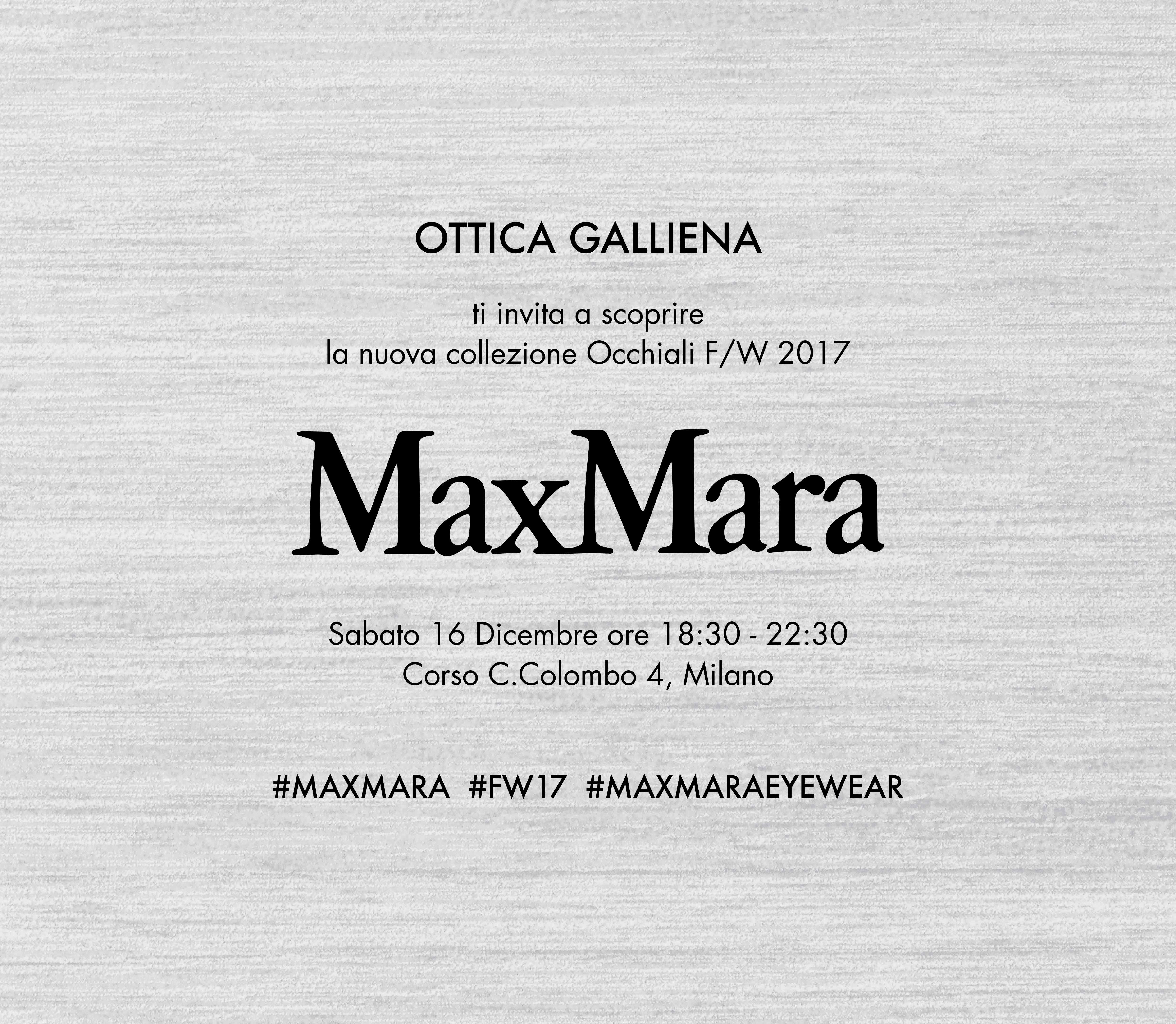 e-vite_MAX MARA_FW_OTTICA GALLIENA