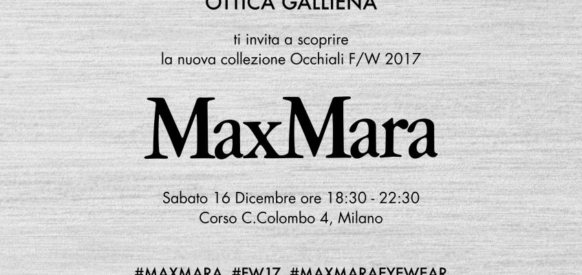 MaxMara F/W 2017 collection -16 dicembre 2017